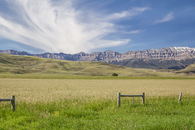 Carter Mountain, part of the Absaroka Mountains, from South Fork Road, south of Cody.