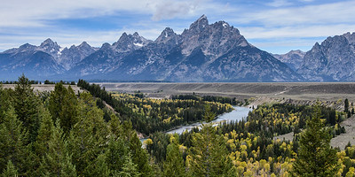 The Grand Tetons and the Snake River