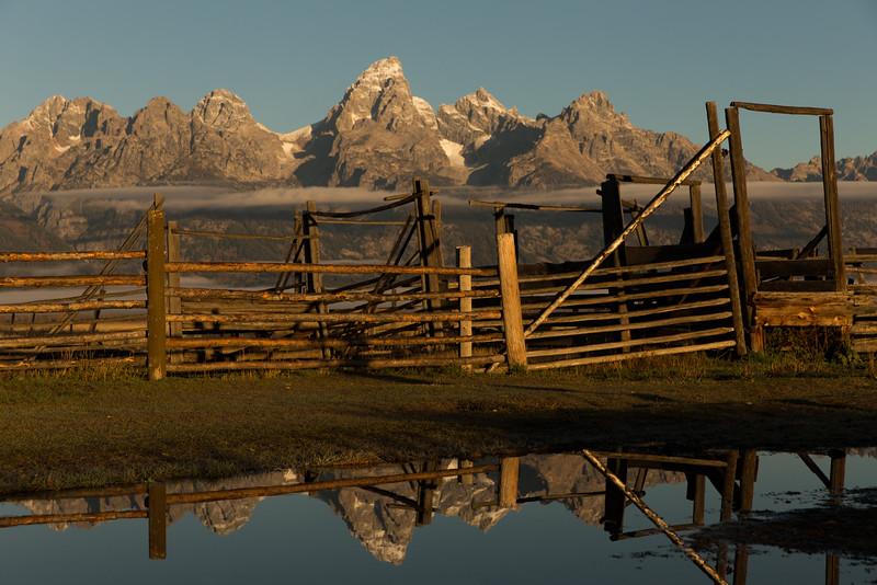 Corral and Grand Teton Range, Teton County, WY