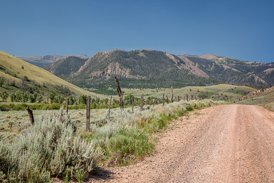 Absaroka Mountains and Pitchfork Road, west of Meeteetse.