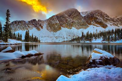 Snowy Lake Marie Evening
