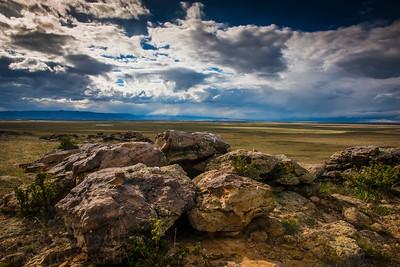 Storms on the horizon near the Snowy Range, outside of Laramie, Wyoming.  Photo by Kyle Spradley | © Kyle Spradley Photography | www.kspradleyphoto.com