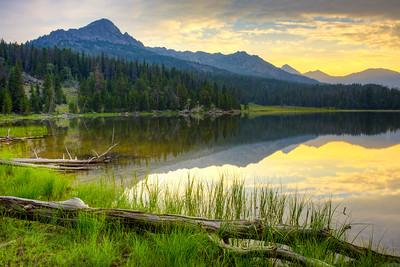 V Lake Sunrise