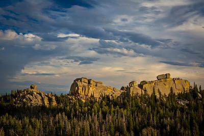 Spring sunset at Vedauwoo, a geologic wonder in the Medicine Bow National Forest near Laramie, Wyoming.  Photo by Kyle Spradley | © Kyle Spradley Photography | www.kspradleyphoto.com