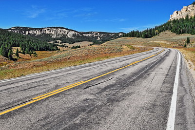 Highway 14 through the Bighorn Mountains in Wyoming