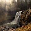 Autumn Sunrise and Moose Falls, Teton County, WY