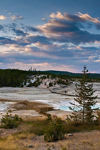 Evening light at the Norris Geyser Basin in Yellowstone National Park.  Photo by Kyle Spradley | www.kspradleyphoto.com