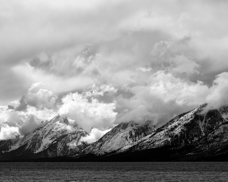 Storm Clouds and Jackson Lake, Teton County, WY
