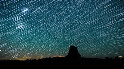 Devils Tower  Starscape