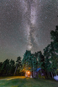 Milky Way over the Cabins at Absaroka Ranch