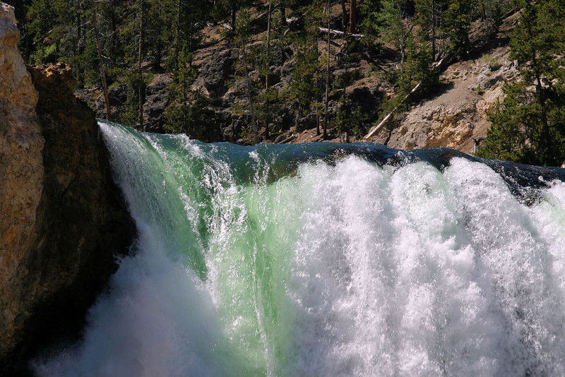 Brink of the Lower Yellowstone River Falls