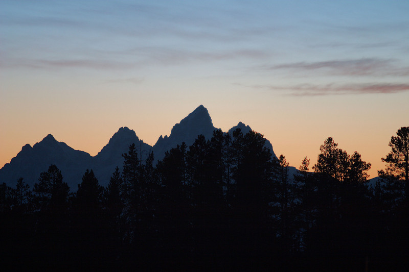 Sunset over Grand Tetons
