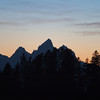 Sunset over Grand Tetons