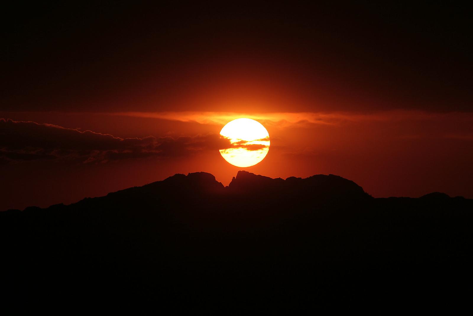 Sunset over Split Rock - Wyoming