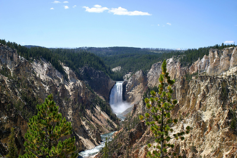 Lower Falls on Yellowstone River