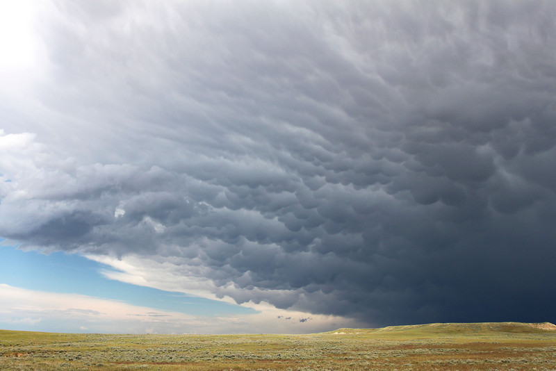 Thunderstorm southeast of Riverton, Wyoming