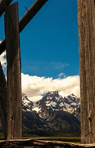 Mormon Row Window to Tetons