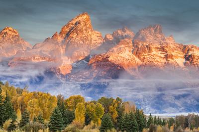 Grand Teton - Cloudy Morning