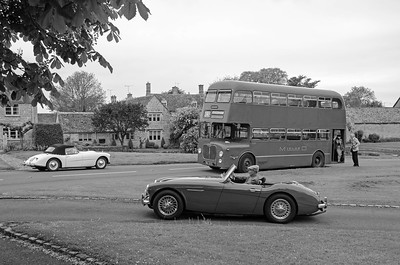 Swallow Doretti, Austin Healy and D9, 5399 in Main Street, Willersey