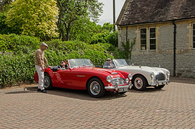 Austin Healy and Swallow Doretti in Binton