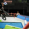 X Games at US Bank Stadium in Minneapolis, Minnesota - August 3.  Dakota Roche competes in the BMX Street competition.