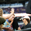 X Games at US Bank Stadium in Minneapolis, Minnesota - August 3.  Jagger Eaton signing memorabilia for fans after the Monster Energy Men's Skateboard Street competition.