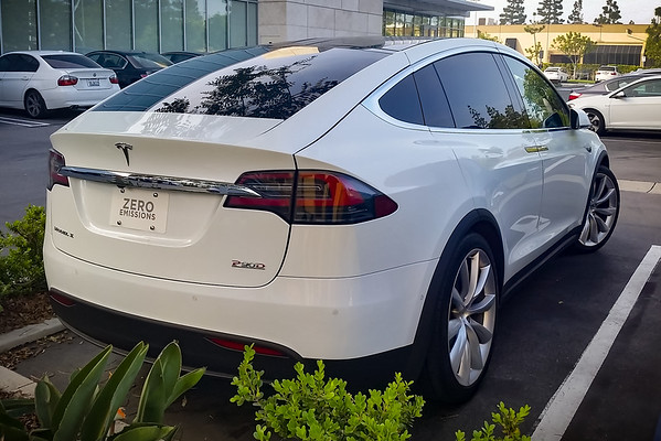 P90D with Ludicrous...now sure which white this is, but it looks like the one I saw at Tesla Costa Mesa
