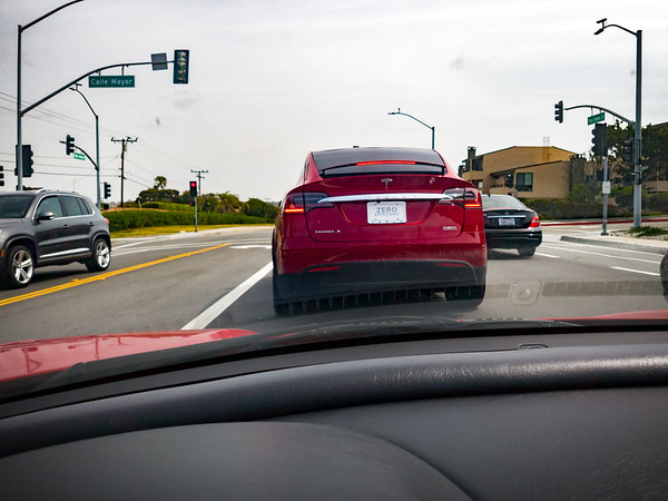 Second Model X encounter from inside my NSX