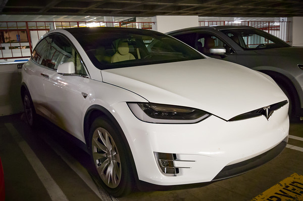 SEPTEMBER - For the past couple of days, a white 75D Model X has been parked in a space reserved by Motor Trend.  They also have a P90D with Ludicrous sitting in their main lot.