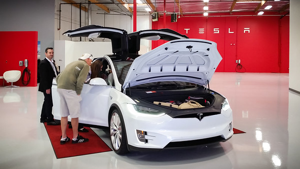 """I finally get to see Model X in person...and all I can say is """"Wow, those doors are amazing!""""  Some may criticize Elon Musk for pushing for their inclusion, but they truly define this car."""