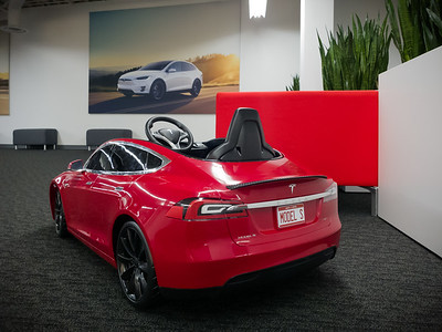 All we need is to get someone to use our Tesla referral code to buy a new Model S or X...just one...and we could own this mini-Model S.  A couple of years ago, I did actually get a colleague to do it...but, at that time, I needed to net two referrals before I would earn any prize.