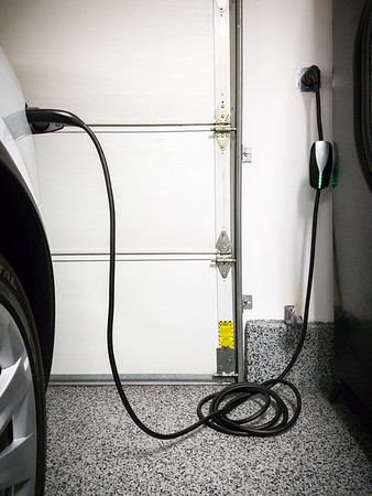 Now the reason for our recent garage refresh should be obvious...we needed to install a charging solution.  We opted for a NEMA 14-50 outlet so we wouldn't be tethered exclusively to Tesla automobiles.