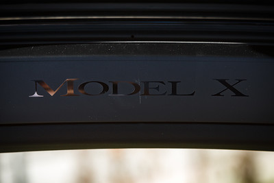 Yes, this IS a Model X...in case you've forgotten as you enter via its unique Falcon Wing Doors (note...make sure to dust before taking close up photos)