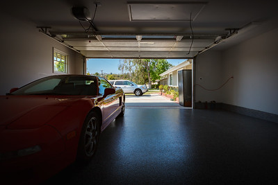 At least Valerie and I were able to park our cars in the garage last night.  This is the last time I will be able to get this wide of a shot while leaning against the back wall of the garage...because cabinets will be going in along this wall on Monday.