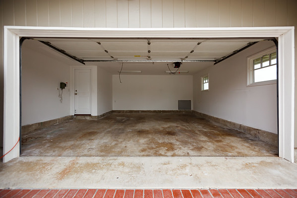 We spent the last few days cleaning out our garage...I mean, we completely emptied it!