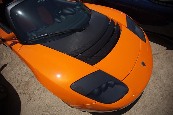 Teslas make good use of carbon fiber