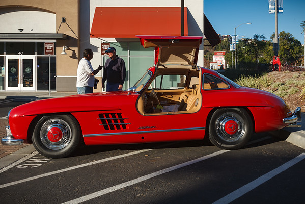 I probably have more photographs of this particular Mercedes 300 SL than any other car at our local C&C...such a beauty