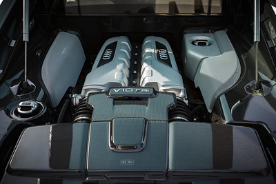 Aside from wanting to save up for my Model X, one of the main reasons I passed on buying my colleague's R8 was that he had the V8...I would have had a harder time turning down an opportunity to buy one with THIS engine (the same engine in the Lamborghini Gallardo)
