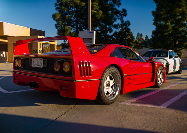 It's always nice when a Ferrari F40 shows up