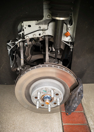 A closer look at my X's rear disc brakes and a peek at her air suspension