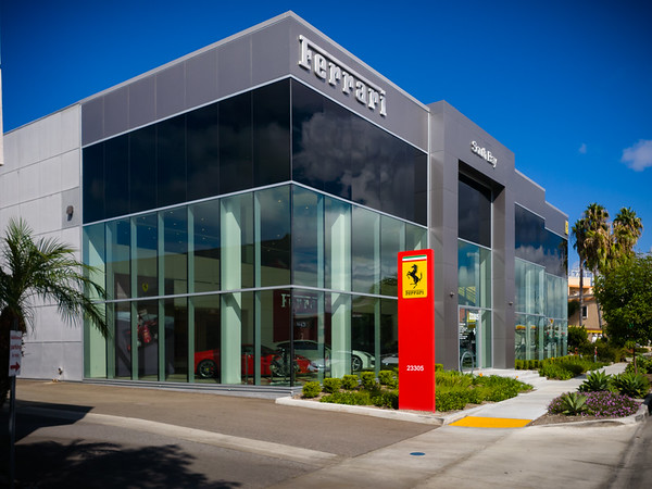 While waiting for my tires to be mounted, I walk over to a nearby FedEx to drop off a package.  I briefly consider stepping inside the Ferrari dealership along the way...