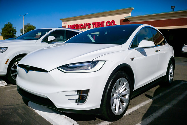 I get my X back from the Service Center and drive straight to America's Tires to get new tires mounted.  I ordered a new set before leaving on my road trip, but couldn't have them mounted while my X was being serviced by Tesla.