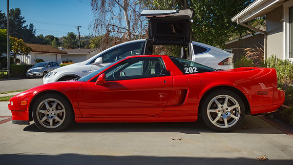 The NSX is almost completely below the windows the X...they don't make cars THIS low any more