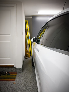 The wall with the door inside our house poses an issue with Model X's autopark system.  The current summoning system only functions in a straight line, but I approach at an angle.  While the system is designed to steer the car to avoid obstacles, this particular corner appears invisible to the sensors...I have had to manually stop the car with the fob just before it made impact.  As a workaround, I pull forward just enough until the headlights are past the corner...and then let autopark complete the job.