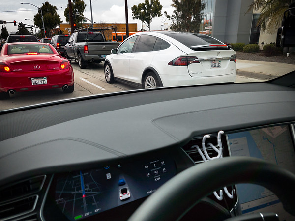 No acknowledgment from the other Model X as it passes by.  Model Xs are definitely not as rare as NSXs any more.