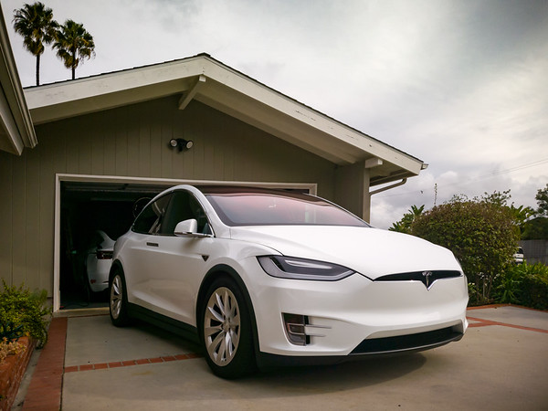 FEBRUARY - Of course it didn't rain THIS morning #ShouldaParkedThisWayYesterday #Tesla #ModelX