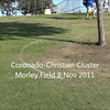 Girls'  Coronado-Christian  Cluster meet at Morley Field 2 November 2011.