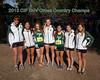 2013 San Diego Section CIF Cross Country Girls Champs.<br /> From Left: Haley Chasin, Aeron Yim. Kayla Bierschbach, Hannah Downey, Jasmine Rippey, Rachel Steffen, Renee Phillips