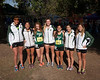 2013 San Diego Section CIF Cross Country Girls Champs. From Left: Haley Chasin, Aeron Yim. Kayla Bierschbach, Hannah Downey, Jasmine Rippey, Rachel Steffen, Renee Phillips
