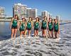 2014 Coronado High School Varsity Girls Cross Country Team, Coronado California: From left to right are Haley Chasin, Jasmine Rippey, Renee Phillips, Aeron Yim, Hannah Downey, Kayla Bierschbach, Chapin Miller-Maes